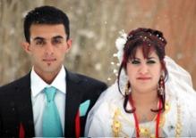 mariage sous la neige, yuksekova.