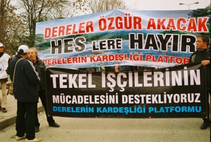 soutiens auxTekel de Diyarbakir. Ankara 19 février 2010 (photo anne guezengar)