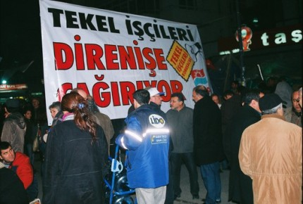 Soutien auxTekel de Diyarbakir. Ankara 19 février 2010 (photo anne guezengar)