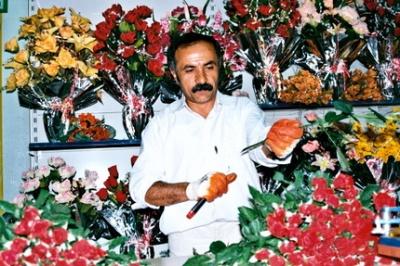 Suleyman fleuriste de Yüksekova (photo anne guezengar)
