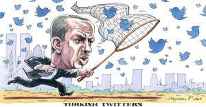 Twitter blocage  Erdogan caricature