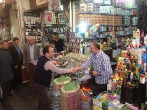 Osman Baydemir Urfa vieux marché