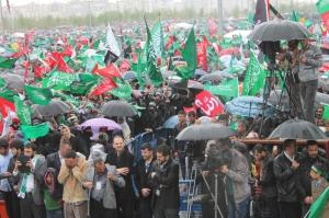 Diyarbakir anniversaire du prophète huda parapluies et drapeaux