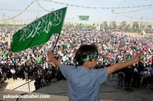 Diyarbakir anniversaire du prophète BDP drapeau vert