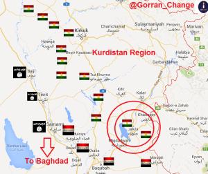 Irak : les différentes forces le 14 juin