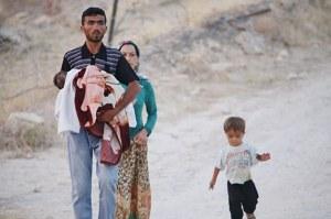 réfugiés kurdes syriens kobanê juillet 2014