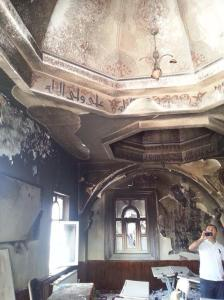 8 juillet 2014 incendie d'une mosquée chiite Esenyurt Istanbul.