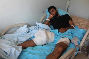 YPG blessé soigné Urfa juillet2014
