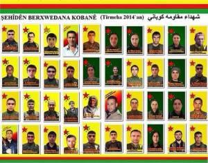 Combattants YPG tués en juillet