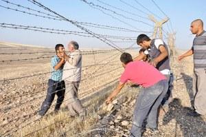 frontière syrienne Birecik  Kobane