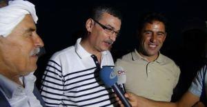 Celahattin Güvenç maire AKP d'Urfa accueille les routiers ex otages