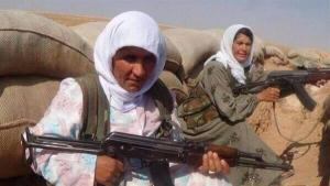 Villageoises kurdes  Kobanê  juillet 2014