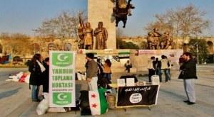 Stand en soutien à L'EIIl, Fatih Istanbul fin juin 2014