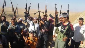 Yézidis combattants à Sinjar