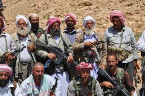 Yézidis miliciens Sinjar