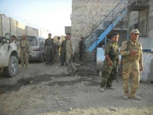 YPG et peshmergas  combattants ensemble à Rabia.