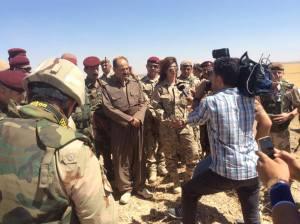 Miss Kurdistan en soutien  aux peshmergas