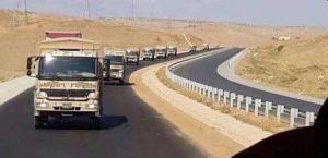 Peshmergas en route vers Sinjar