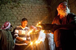 Fête réligieuse yézidie à Lalesh kurdistan irakien. Image Ezidi press