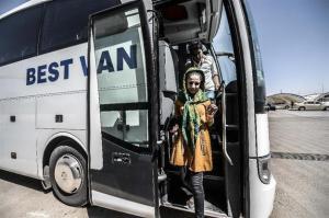 Touristes kurdes irakiens, passagers de la compagnie Best Van